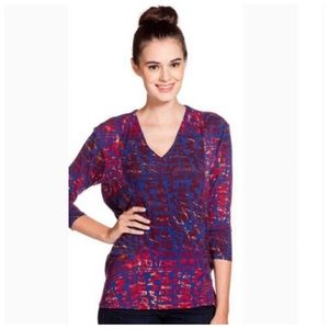 NWT Tracy Reese Cocoon pullover in Sangria Print